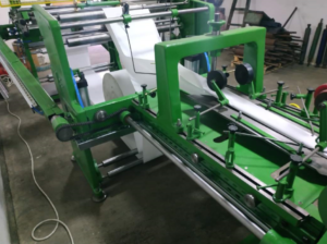 Flat/satchel bag making machine with 3 color in-line printer, Overhauled
