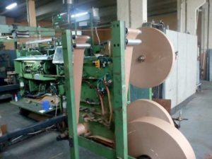 SOS bag making machine with flat handle, 4 color in-line printer and press belt conveyor