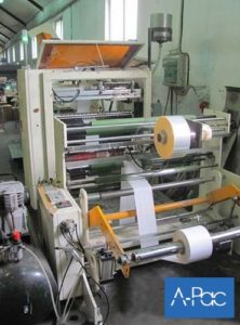 Flat/Satchel bag making machine with window film application
