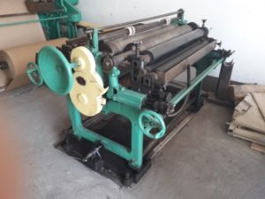Overhauled flat/satchel bag making machine with 2 color in-line printer